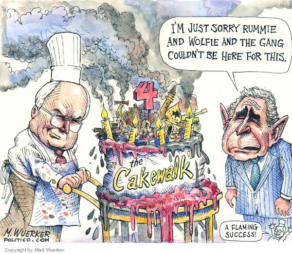 Cartoonist Matt Wuerker  Matt Wuerker's Editorial Cartoons 2007-03-22 flame