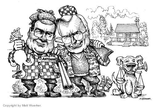 Cartoonist Matt Wuerker  Matt Wuerker's Editorial Cartoons 2004-03-19 hold