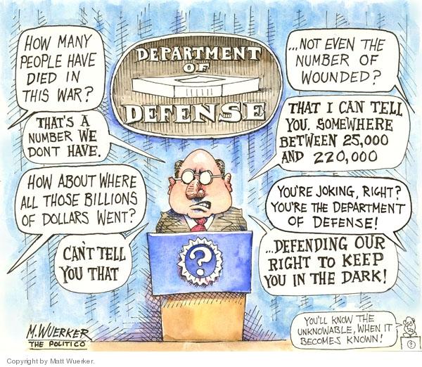 Cartoonist Matt Wuerker  Matt Wuerker's Editorial Cartoons 2007-03-06 government secrecy