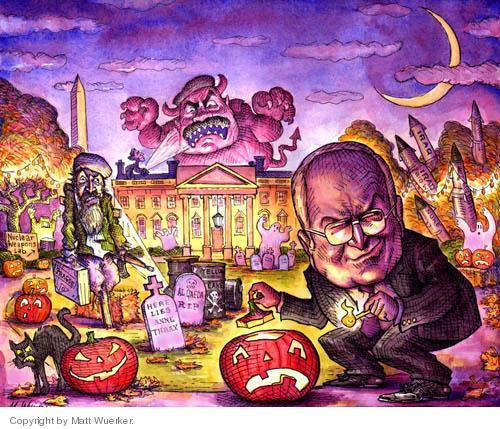 Matt Wuerker  Matt Wuerker's Editorial Cartoons 2004-10-22 Halloween