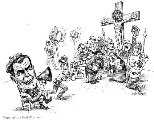 Cartoonist Matt Wuerker  Matt Wuerker's Editorial Cartoons 2004-03-04 bible
