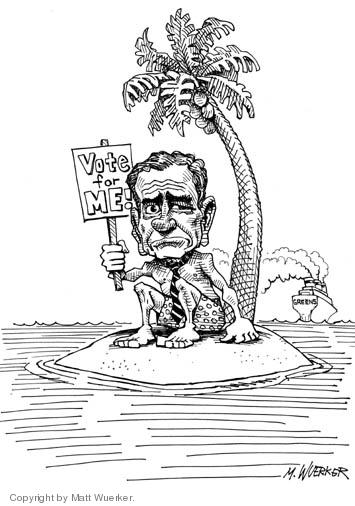 Matt Wuerker  Matt Wuerker's Editorial Cartoons 2004-07-06 abandon ship