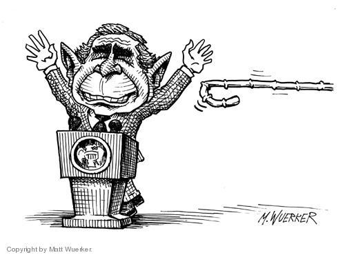 Cartoonist Matt Wuerker  Matt Wuerker's Editorial Cartoons 2004-10-15 arms