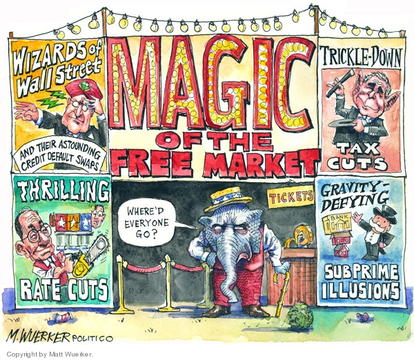 Cartoonist Matt Wuerker  Matt Wuerker's Editorial Cartoons 2008-10-28 Federal Reserve Bank