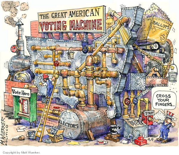 Matt Wuerker  Matt Wuerker's Editorial Cartoons 2008-10-31 voting machine