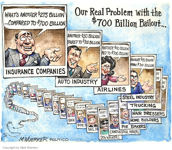 Cartoonist Matt Wuerker  Matt Wuerker's Editorial Cartoons 2008-11-19 recession