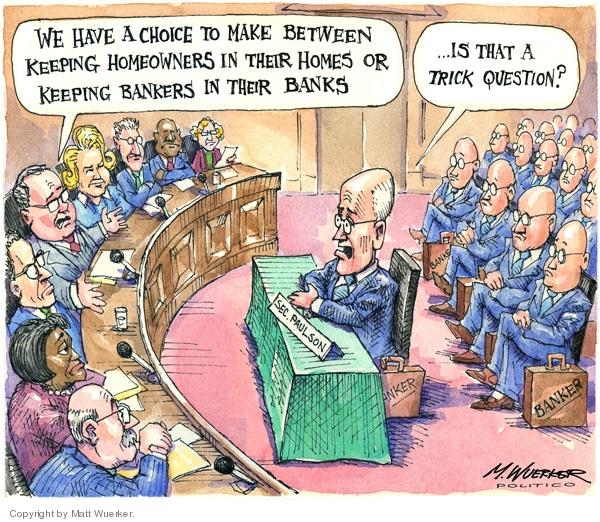 Cartoonist Matt Wuerker  Matt Wuerker's Editorial Cartoons 2008-12-10 recession