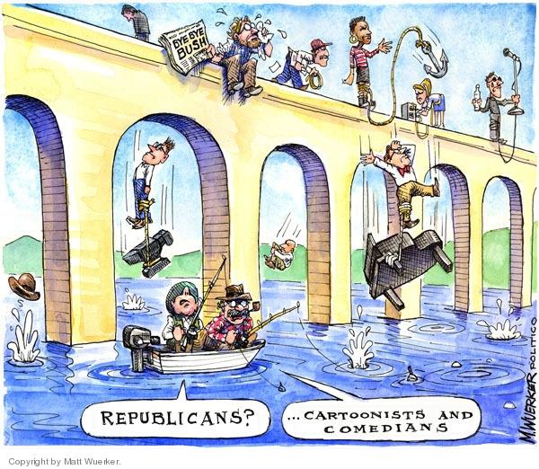 Matt Wuerker  Matt Wuerker's Editorial Cartoons 2008-12-19 bridge
