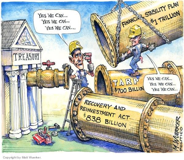 Cartoonist Matt Wuerker  Matt Wuerker's Editorial Cartoons 2009-02-12 recession
