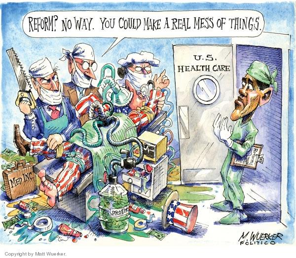 Matt Wuerker  Matt Wuerker's Editorial Cartoons 2009-03-05 health care reform