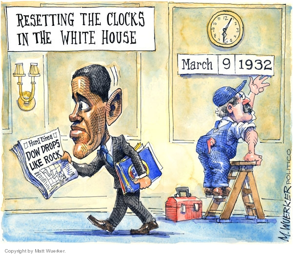 Cartoonist Matt Wuerker  Matt Wuerker's Editorial Cartoons 2009-03-09 depression economy