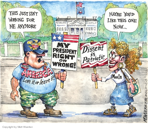 Cartoonist Matt Wuerker  Matt Wuerker's Editorial Cartoons 2009-03-10 patriotism