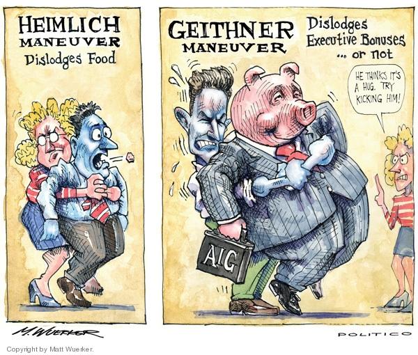 Matt Wuerker  Matt Wuerker's Editorial Cartoons 2009-03-18 maneuver