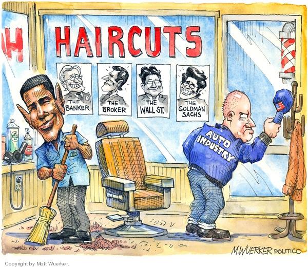 Cartoonist Matt Wuerker  Matt Wuerker's Editorial Cartoons 2009-04-01 president