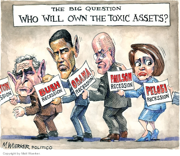 Cartoonist Matt Wuerker  Matt Wuerker's Editorial Cartoons 2009-04-02 blame Obama