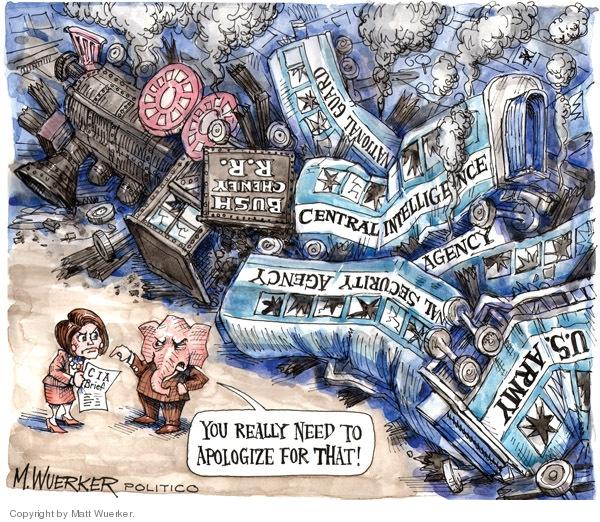 Cartoonist Matt Wuerker  Matt Wuerker's Editorial Cartoons 2009-05-21 CIA