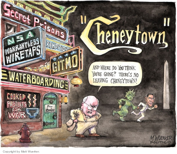 Cartoonist Matt Wuerker  Matt Wuerker's Editorial Cartoons 2009-05-26 Dick Cheney