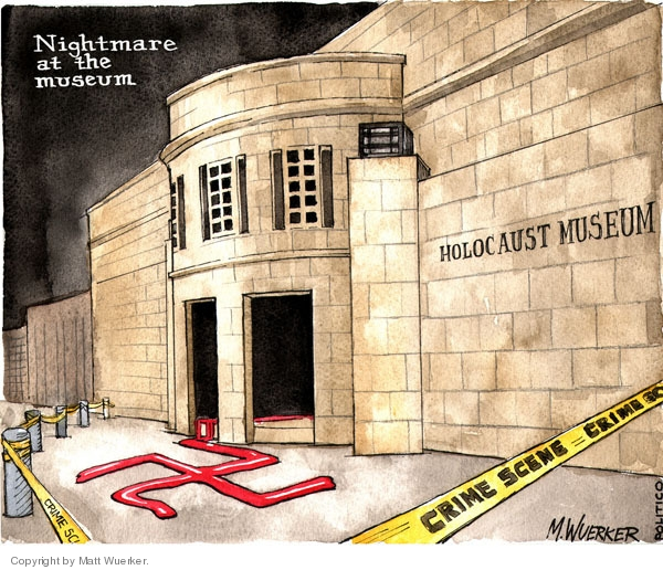 Nightmare at the Museum. Holocaust Museum. Crime scene.
