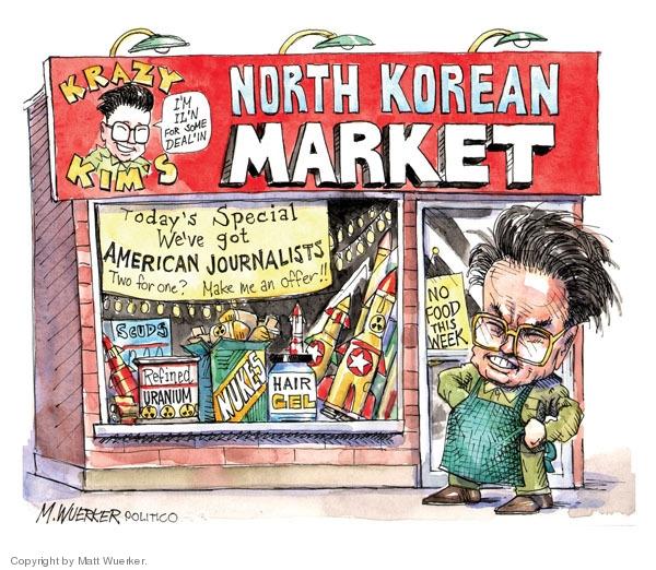 Cartoonist Matt Wuerker  Matt Wuerker's Editorial Cartoons 2009-06-11 nuclear proliferation