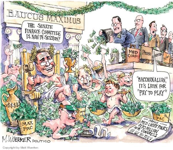 Cartoonist Matt Wuerker  Matt Wuerker's Editorial Cartoons 2009-07-22 quotation