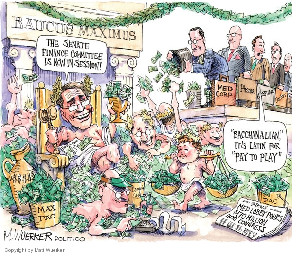 Cartoonist Matt Wuerker  Matt Wuerker's Editorial Cartoons 2009-07-22 Congress