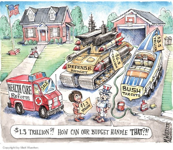 Cartoonist Matt Wuerker  Matt Wuerker's Editorial Cartoons 2009-07-23 expense