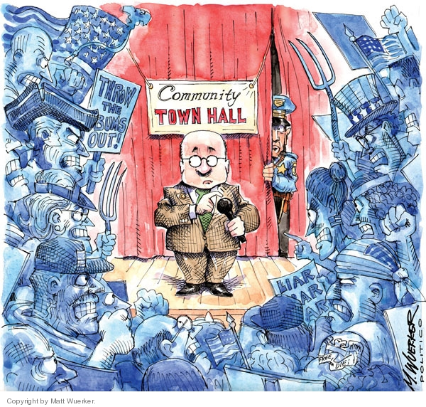 Community Town Hall. Throw the bums out! Liar liars liar.