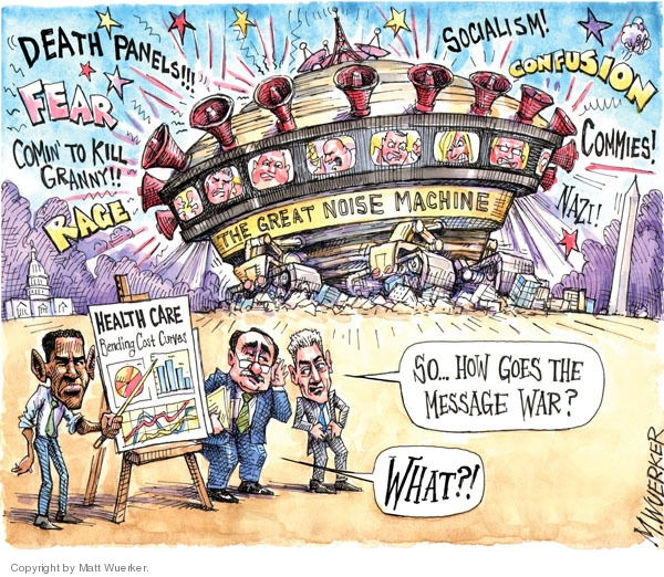 Cartoonist Matt Wuerker  Matt Wuerker's Editorial Cartoons 2009-09-09 bias