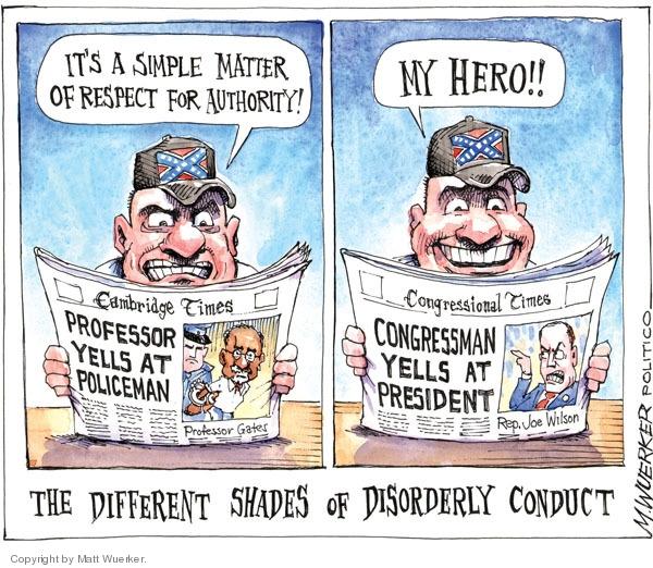 Cartoonist Matt Wuerker  Matt Wuerker's Editorial Cartoons 2009-09-15 respect