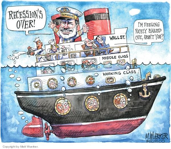 Cartoonist Matt Wuerker  Matt Wuerker's Editorial Cartoons 2009-09-22 recession