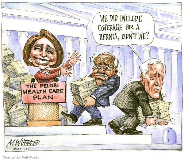 Cartoonist Matt Wuerker  Matt Wuerker's Editorial Cartoons 2009-11-02 congress health care