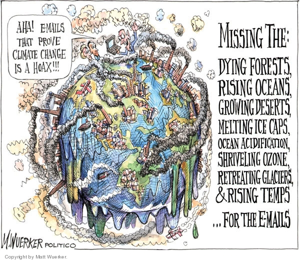 Cartoonist Matt Wuerker  Matt Wuerker's Editorial Cartoons 2009-12-08 environment destruction