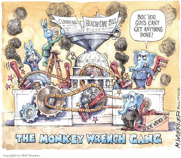 Cartoonist Matt Wuerker  Matt Wuerker's Editorial Cartoons 2009-12-09 congress health care