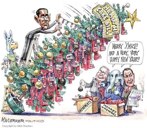 Cartoonist Matt Wuerker  Matt Wuerker's Editorial Cartoons 2009-12-21 president