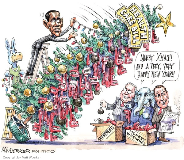 Cartoonist Matt Wuerker  Matt Wuerker's Editorial Cartoons 2009-12-21 republican president