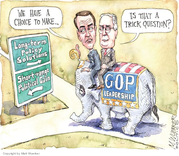 Cartoonist Matt Wuerker  Matt Wuerker's Editorial Cartoons 2010-02-24 senate minority leader