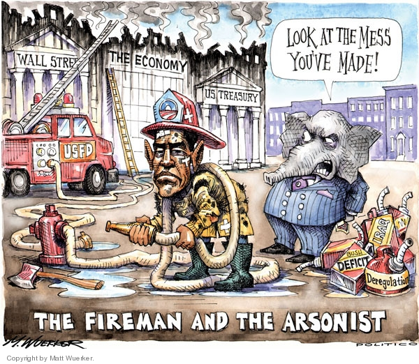 Cartoonist Matt Wuerker  Matt Wuerker's Editorial Cartoons 2010-03-17 blame Obama