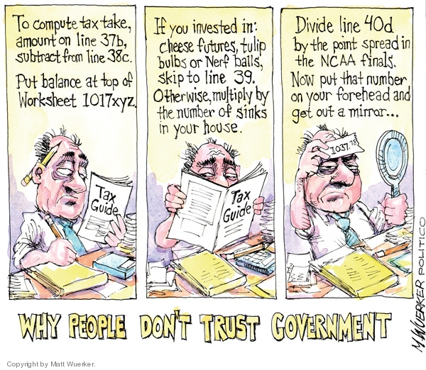 Cartoonist Matt Wuerker  Matt Wuerker's Editorial Cartoons 2010-04-15 tax form