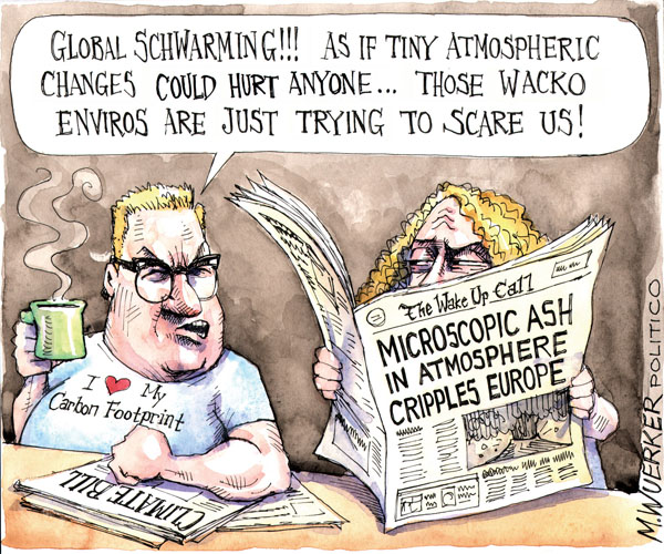 Cartoonist Matt Wuerker  Matt Wuerker's Editorial Cartoons 2010-04-22 climate change skepticism