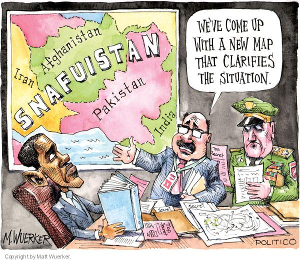 How much we burden the West? (Cartoon by Matt Wuerker).