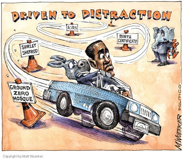 Matt Wuerker  Matt Wuerker's Editorial Cartoons 2010-08-20 distraction