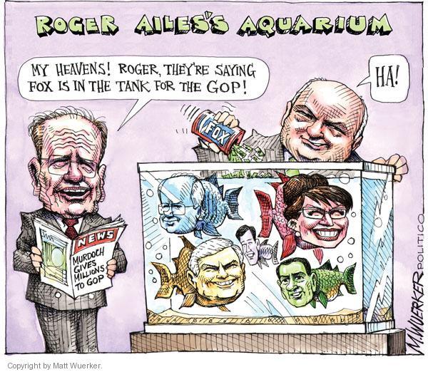 Cartoonist Matt Wuerker  Matt Wuerker's Editorial Cartoons 2010-10-06 Fox News