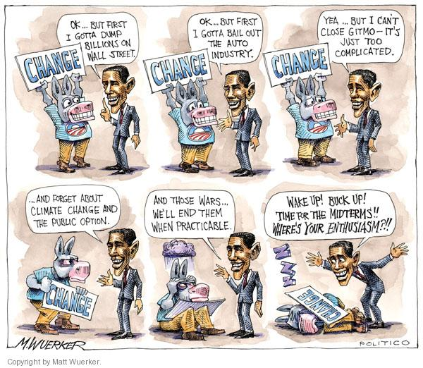 Cartoonist Matt Wuerker  Matt Wuerker's Editorial Cartoons 2010-10-07 president