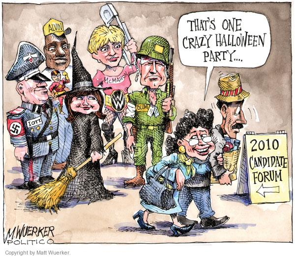 Matt Wuerker  Matt Wuerker's Editorial Cartoons 2010-10-21 Halloween