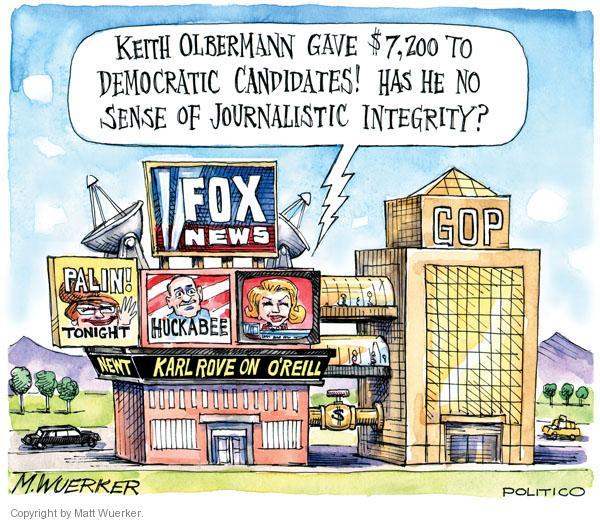 Cartoonist Matt Wuerker  Matt Wuerker's Editorial Cartoons 2010-11-08 Fox News