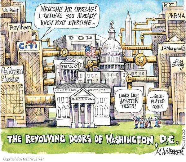 Cartoonist Matt Wuerker  Matt Wuerker's Editorial Cartoons 2010-12-14 Treasury Department