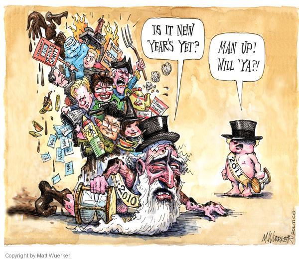 Cartoonist Matt Wuerker  Matt Wuerker's Editorial Cartoons 2010-12-21 Father Time