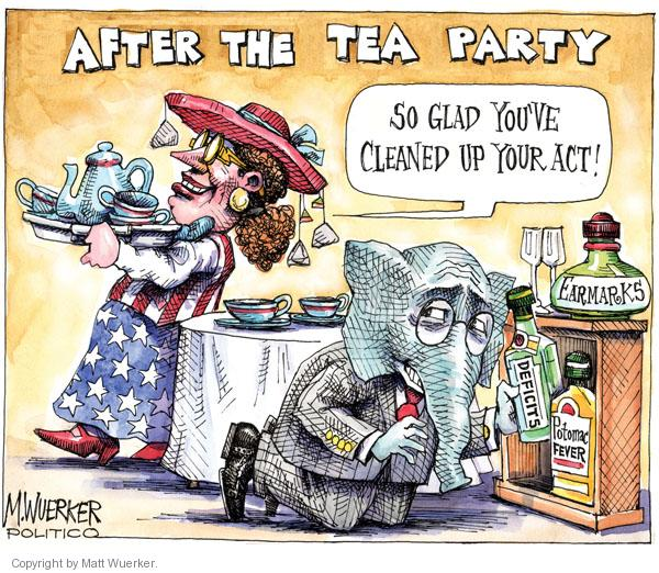 Cartoonist Matt Wuerker  Matt Wuerker's Editorial Cartoons 2011-01-06 tea party