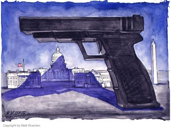 Matt Wuerker  Matt Wuerker's Editorial Cartoons 2011-01-13 handgun