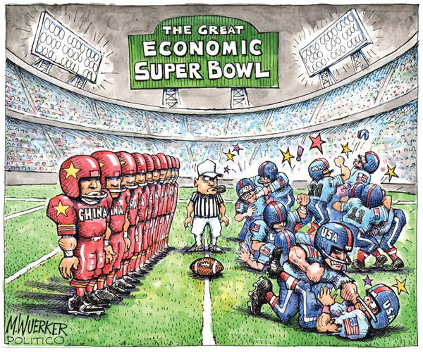 The great economic super bowl. China. USA.